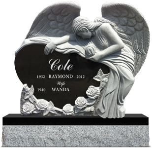 Carved Angel monument
